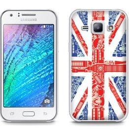 Samsung Galaxy J1 TPU hoesje UK Vlag