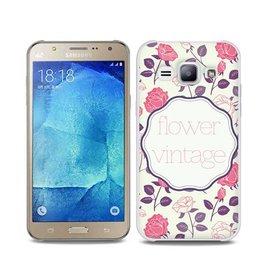 Samsung Galaxy J7 TPU hoesje Vintage Flower