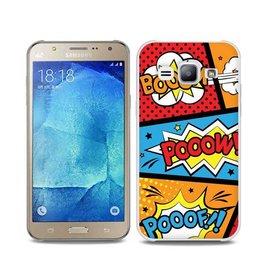 "Samsung Galaxy J7 TPU hoesje ""POOOF"""