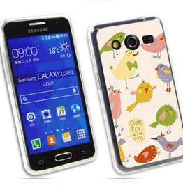 Samsung Galaxy Core 2 TPU hoesje Come fly with me