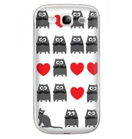 Samsung Galaxy S3 Cat and Owl