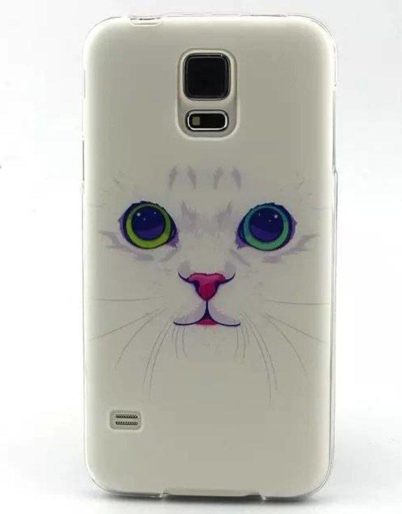 Samsung S5 mini Cats/kat siliconen hoesje