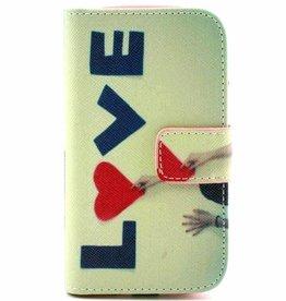 Samsung Galaxy S3 mini PU Leren Wallet Love
