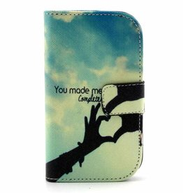 Samsung Galaxy S Duos(2)/Trend Plus PU Lederen Wallet hoesjes You made me Complete