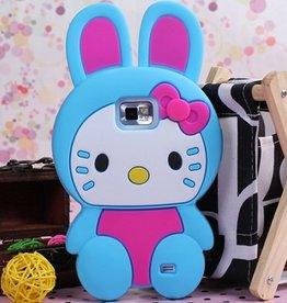 Hello Kitty Blauw voor Samsung Galaxy S2