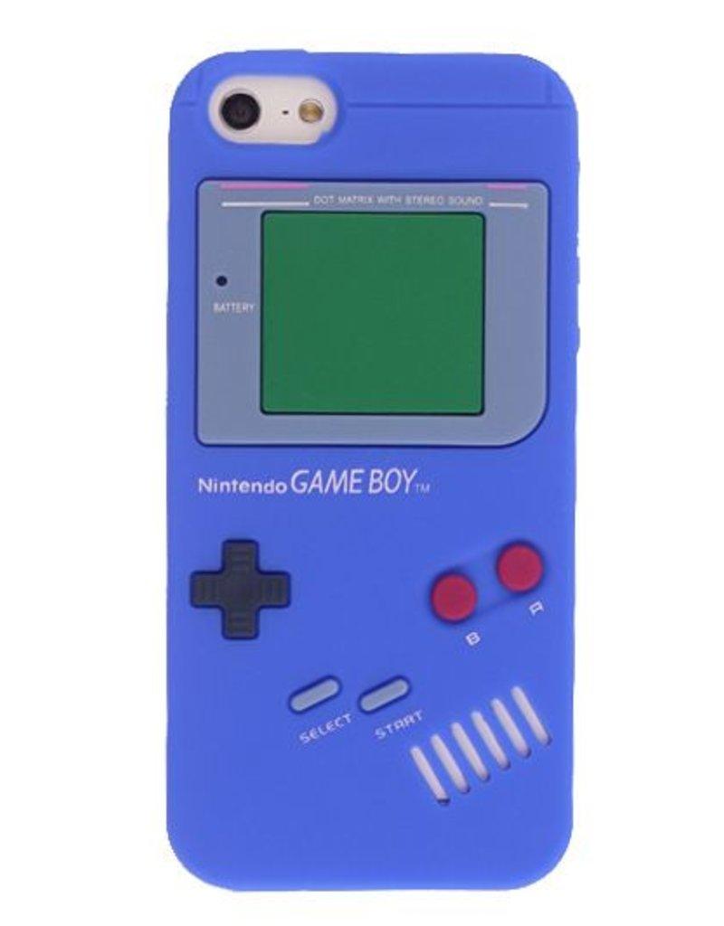 Iphone 5 (S)  hoesje Retro GameBoy Blauw