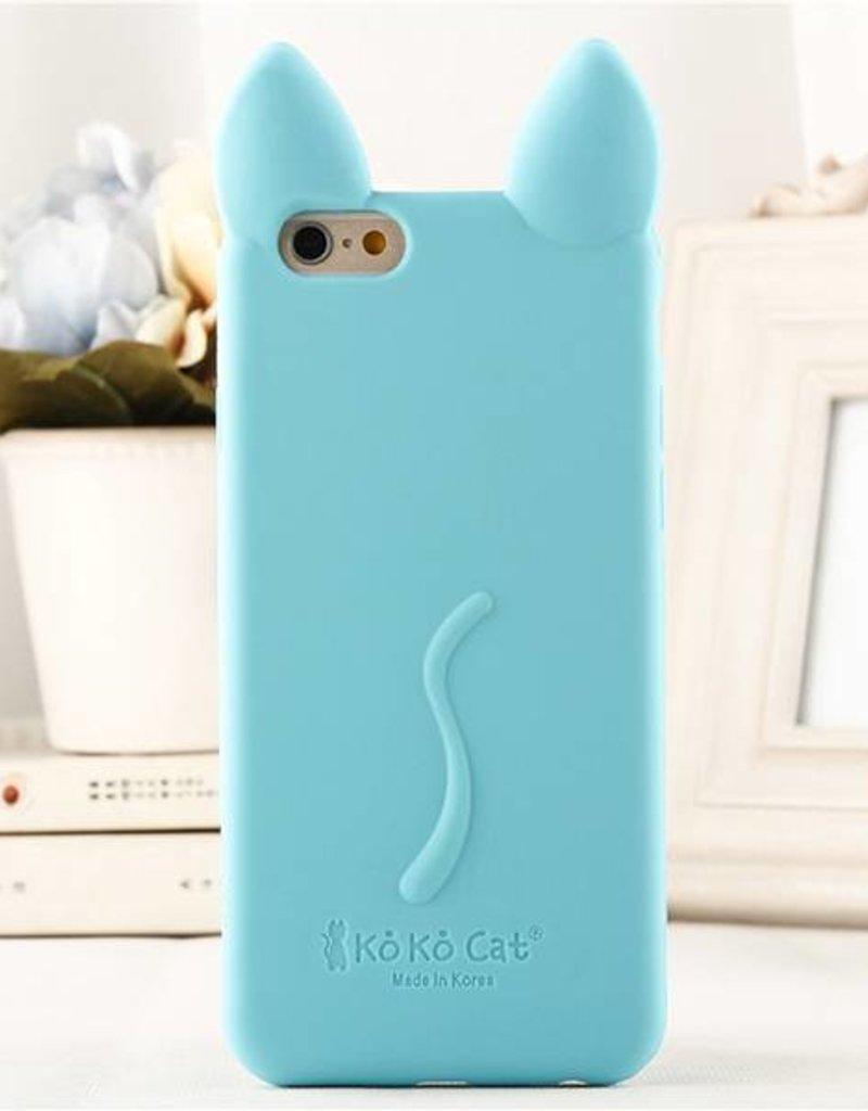 Iphone 5 C Siliconen hoesje Koko Kat Blauw