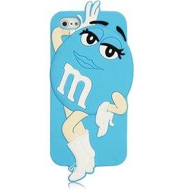 Iphone 5 (S) en 5 C  M&M Blauw Girl