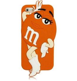 Iphone 5 (S) en 5 C M&M Oranje Girl