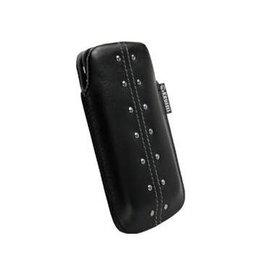 Krussel Leder Pouch Kalix Mobile Zwart  (voor meerdere toestellen)