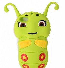 Iphone 4(S) 3D hoesje Rupsje groen