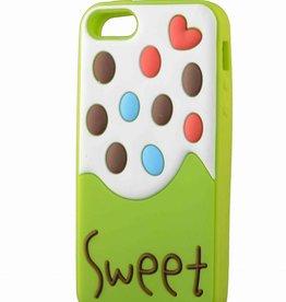 Iphone 5 hoesje Sweet Ice cream Groen-wit