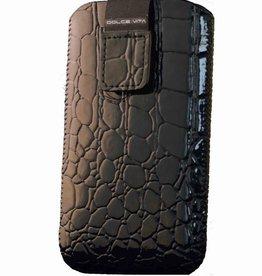 Iphone 4 Croco Look Zwart