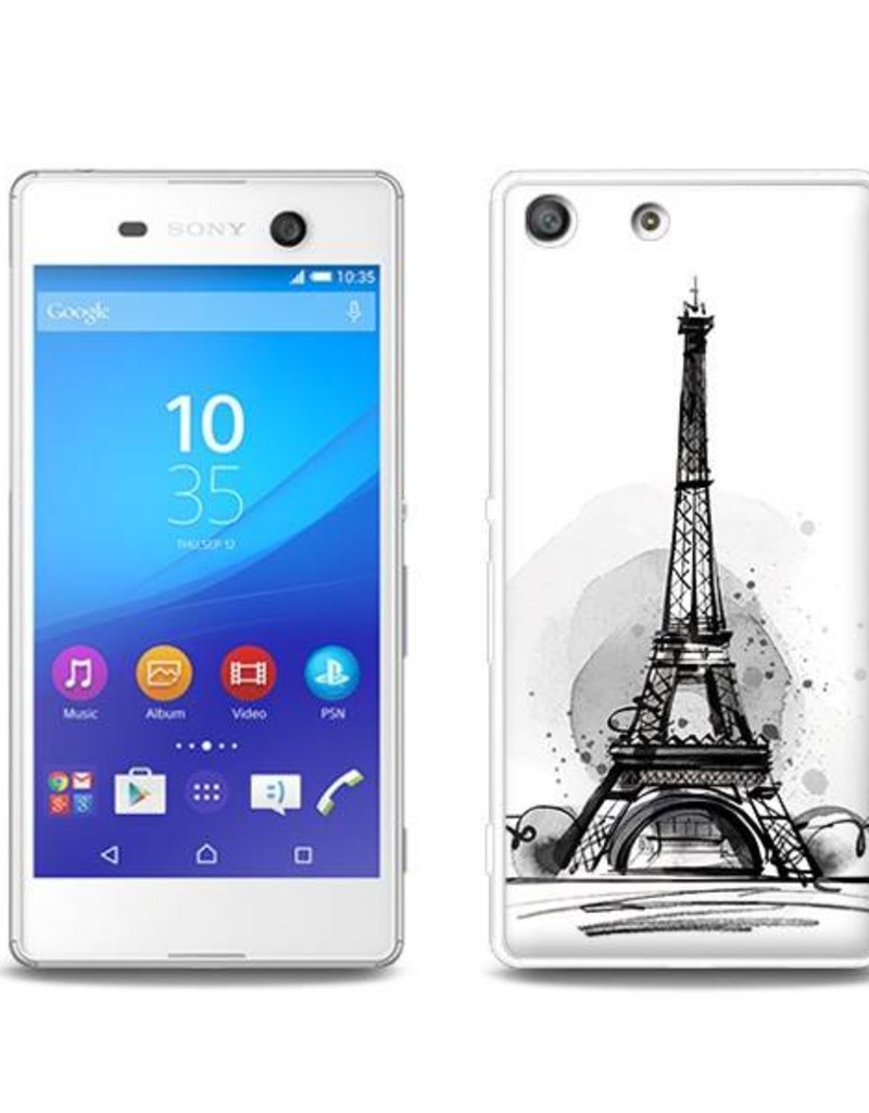 Sony Xperia M5 TPU Hoesje PARIJS Eiffeltoren