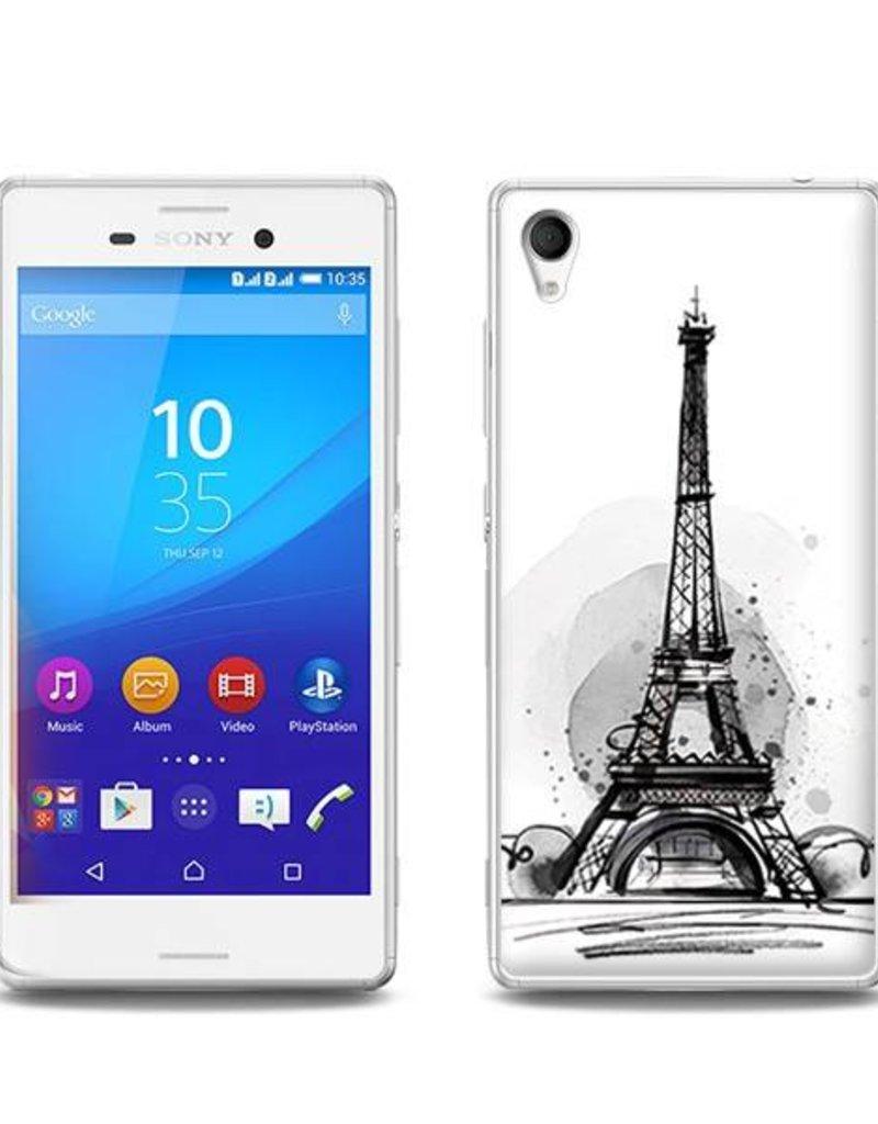 Sony Xperia M4 Aqua TPU Hoesje PARIJS