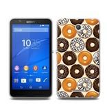Sony Xperia E4 TPU Hoesje DONUT