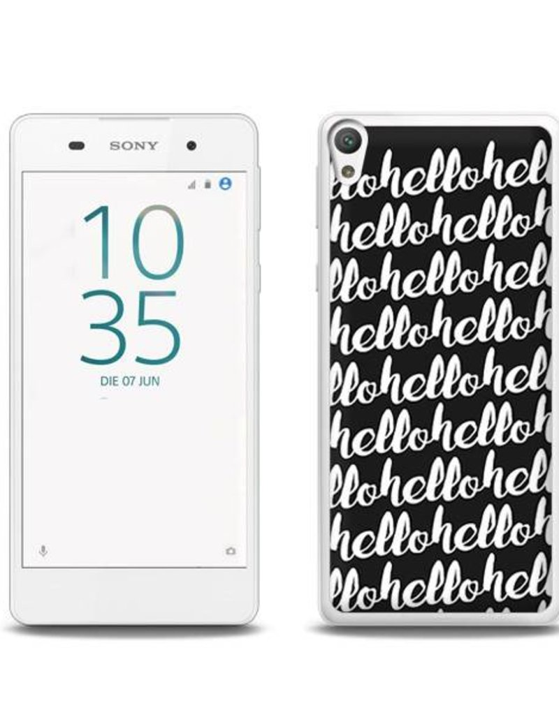 Sony Xperia E5 TPU Hoesje HELLO