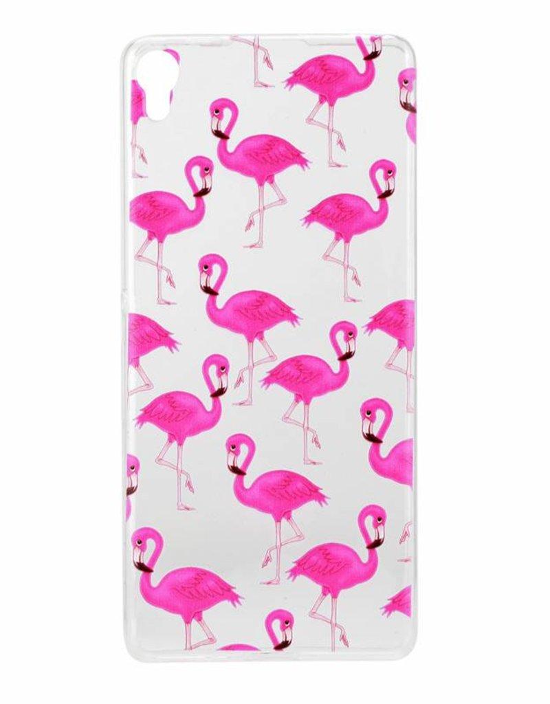 Sony Xperia XA TPU Hoesje Flamingo's