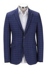 Florentino Royal Blue Checked Jacket