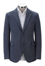 Florentino Pale Blue Cotton Jacket with detail