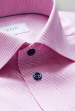 Eton PInk Houndstooth Shirt