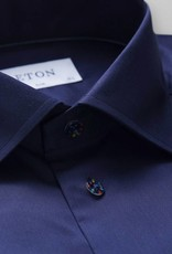 Eton Signature Twill with Multi-dotted Button