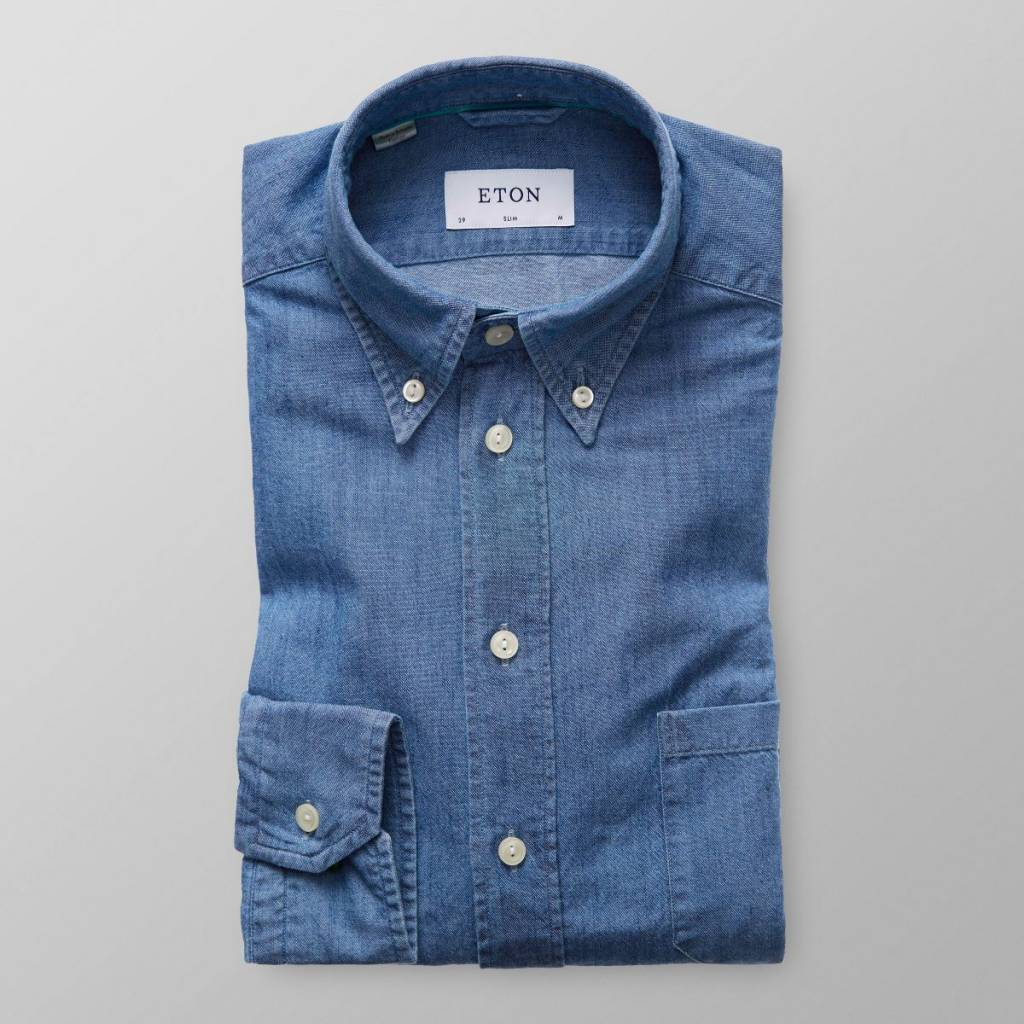 Eton Light Denim button down