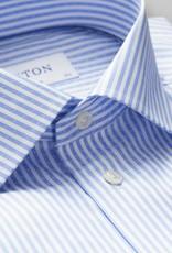 Eton Navy Blue Striped Twill