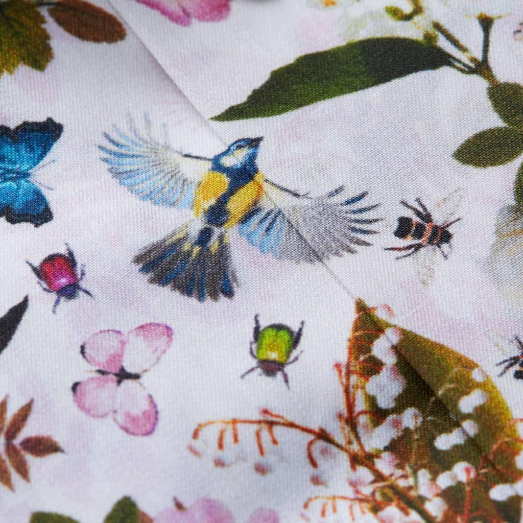 Eton White  floral and fauna shirt