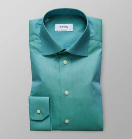 Eton Green Zig Zag Satin Shirt