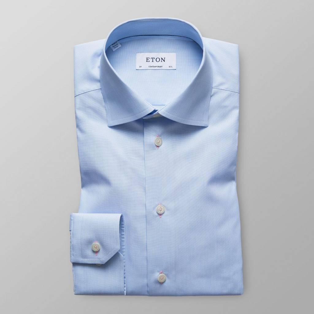 Eton Blue stripe with button hole detail