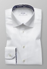 Eton Signature Twill with Paisley trim