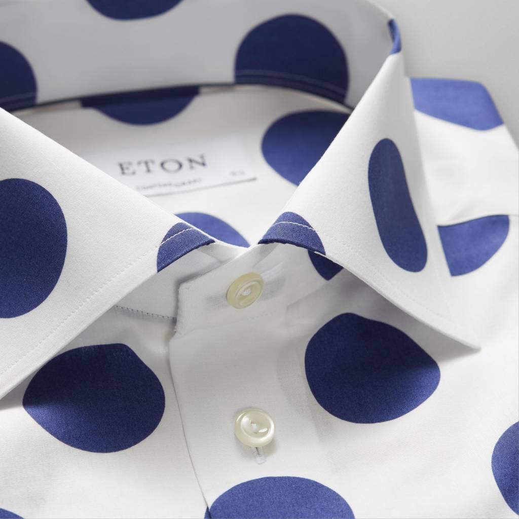 Eton Bold Blue Spot Poplin