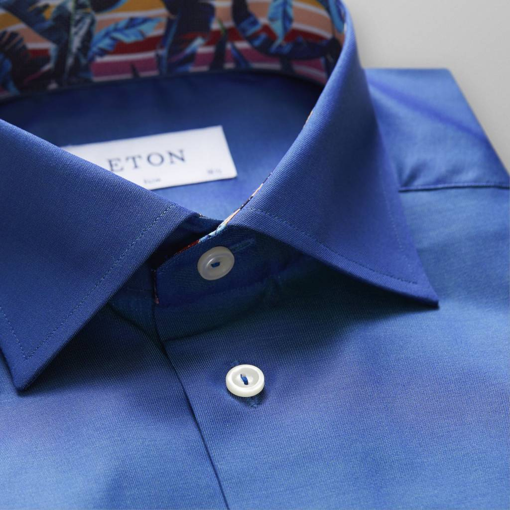 Eton Signature twill with Miami vice trim