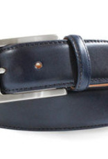 Robert Charles Blue Jean belt with calf stitching
