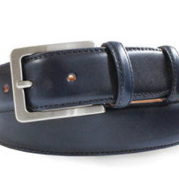 Robert Charles Blue Jean belt with calf stitching