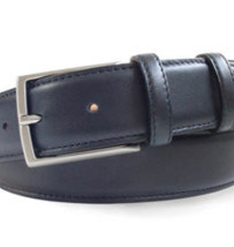Robert Charles Navy Leather Belt