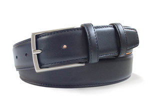 Robert Charles Navy Leather Belt