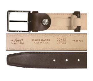 Robert Charles Brown Dark Leather Belt