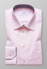 Eton Check Poplin with Fern Trim