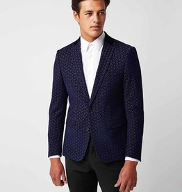 Remus Uomo slim fit blue smoking jacket