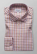 Eton Orange check with hidden button down