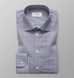 Eton Blue Medallion Print shirt