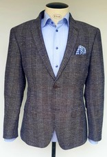 Roy Robson Light brown pique with pale blue check