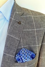 Roy Robson Light grey wool with window pane grey check