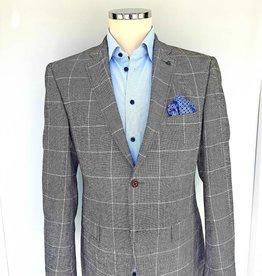 Roy Robson Light grey wool with window pane check