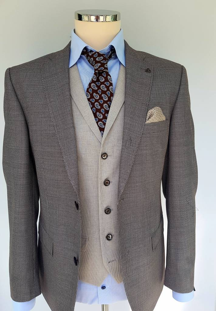 Roy Robson pure wool light brown fleck