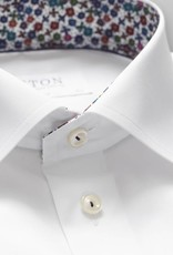 Eton Slim fit twill with Flower trim & piping