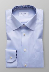 Eton Sky Blue Twill with floral detail