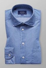 Eton blue soft indigo denim